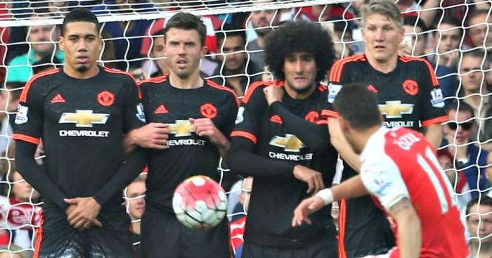 Carrick Smalling Fellaini Schweinsteiger Arsenal v Manchester United TEAMtalk