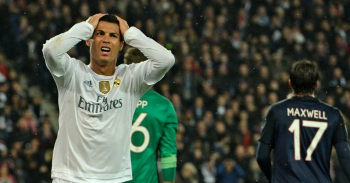 Cristiano Ronaldo: Rues missed chance for Real Madrid against Paris Saint-Germain