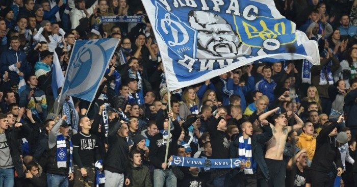 Dynamo Kiev fans: Accused of racist behaviour against Chelsea