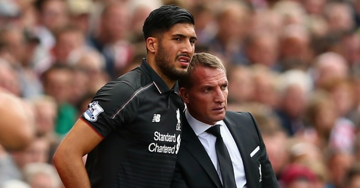 Emre Can (l): Has defended outgoing Liverpool manager Brendan Rodgers after his sacking