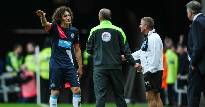 Fabricio Coloccini: Newcastle captain sent off at Sunderland