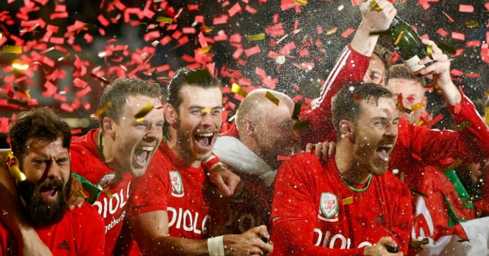 Gareth Bale and Aaron Ramsey: Lead the Wales celebrations