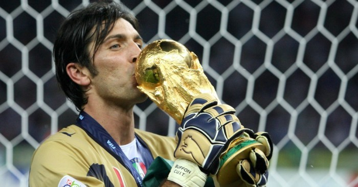 Gianluigi Buffon: Celebrates Italy's World Cup win in 2006