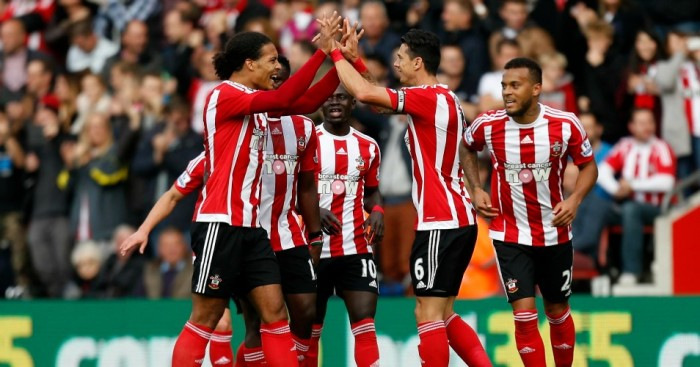 Jose Fonte (2nd right): Celebrates scoring their first goal