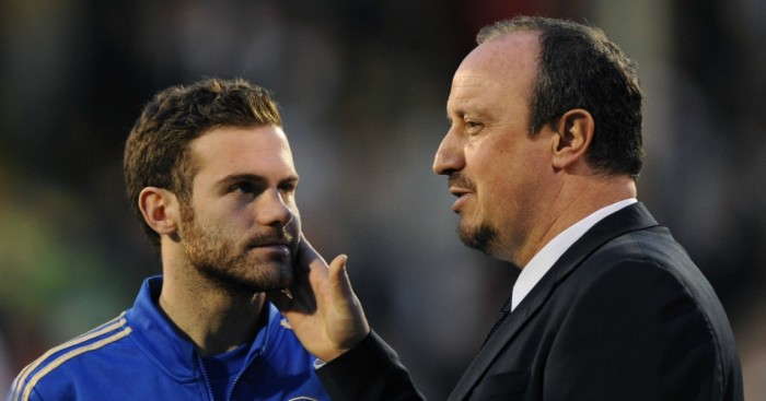 Juan Mata: Support for former Chelsea boss Rafa Benitez
