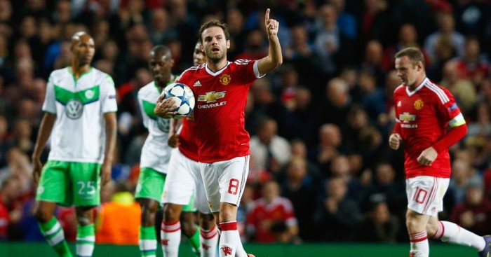 Juan Mata: Equalised for Manchester United against Wolfsburg