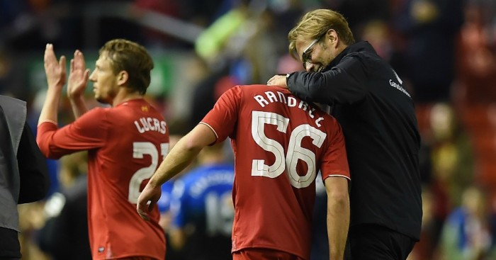 Jurgen Klopp: Congratulates Connor Randall after Liverpool's win