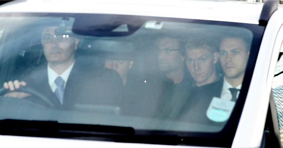 Jurgen Klopp: Arrives at his Liverpool hotel after flight from Dortmund