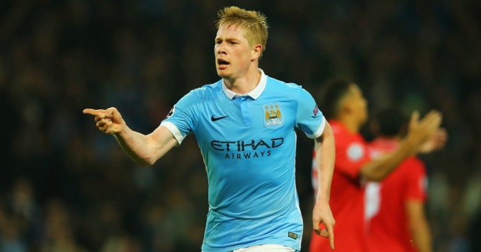 Kevin De Bruyne: Celebrates late winner for Manchester City