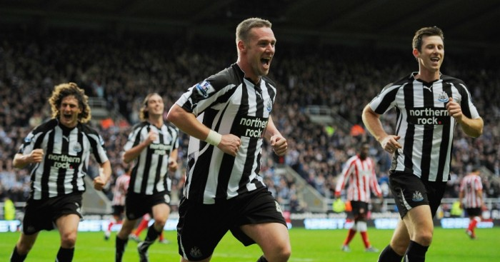 Kevin Nolan: Celebrates scoring against Sunderland in 2010