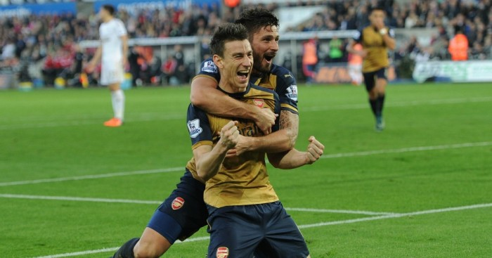 Laurent Koscielny: Defender celebrates Arsenal's second