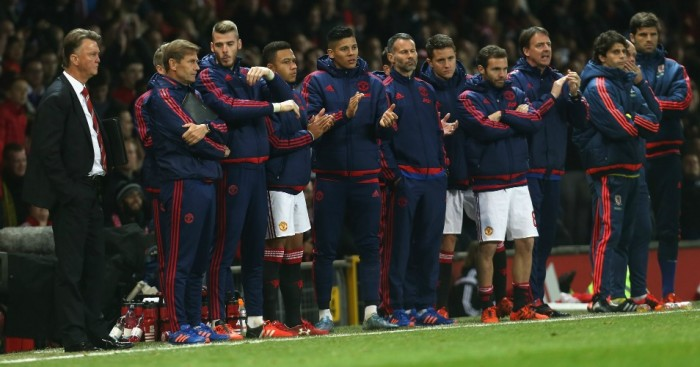Louis van Gaal: Watches Manchester United's shoot-out defeat to Middlesbrough