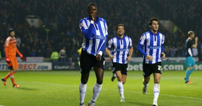 Lucas Joao: Celebrates Sheffield Wednesday's second against Arsenal