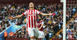 Marko Arnautovic: Celebrates his opening goal