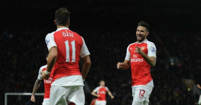 Mesut Ozil and Olivier Giroud: Impressive records for Arsenal