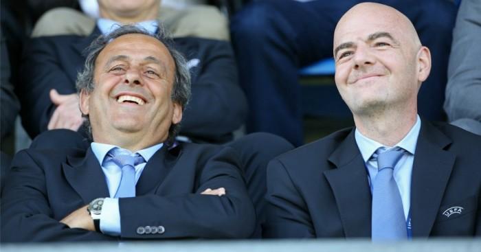 Michel Platini Gianni Infantino UEFA TEAMtalk