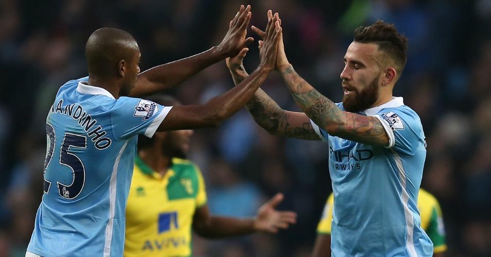 Nicolas Otamendi Manchester City v Norwich TEAMtalk
