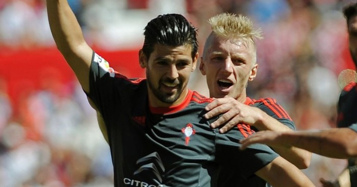 Nolito (left): Celta Vigo forward linked with Arsenal