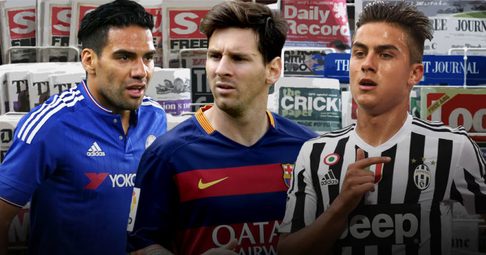 Radamel Falcao, Lionel Messi and Pablo Dybala in the news