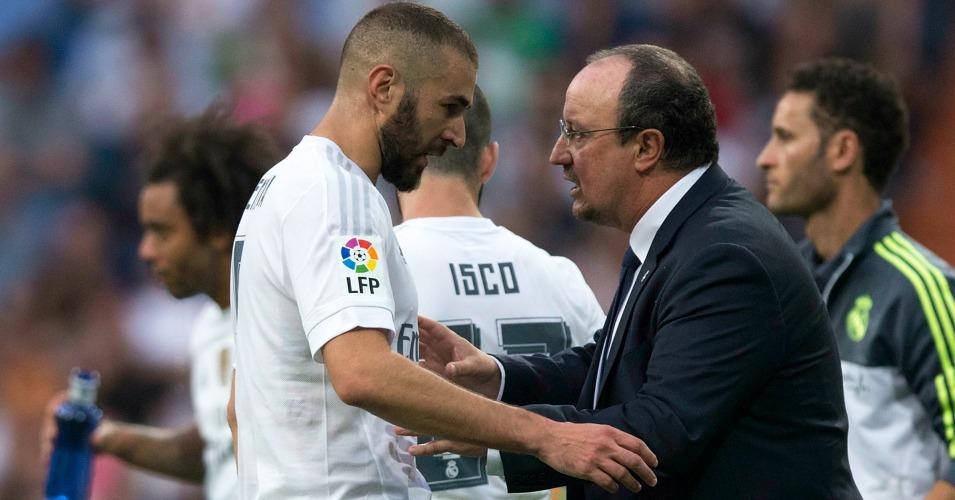 Rafael Benitez Karim Benzema Real Madrid TEAMtalk