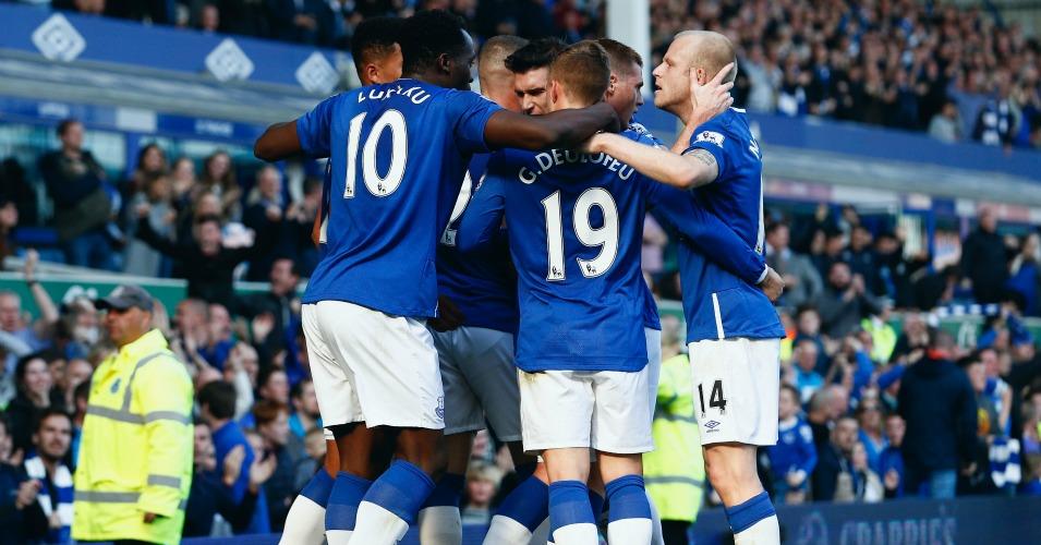 Everton: Celebrate Romelu Lukaku's equaliser against Liverpool