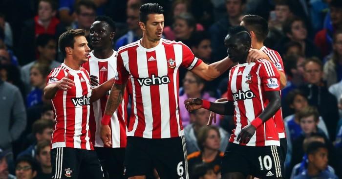 Sadio Mane: Celebrates Southampton's second goal against Chelsea