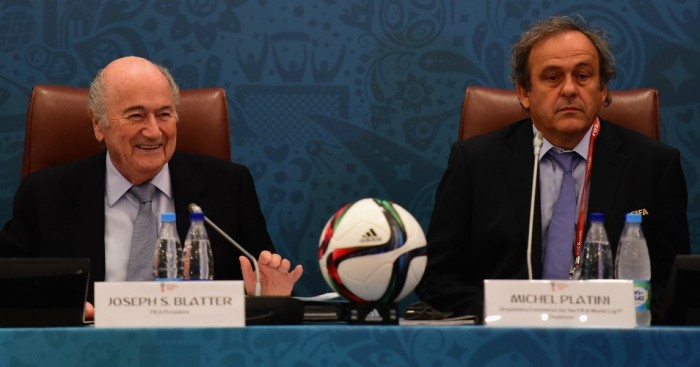Sepp Blatter and Michel Platini: Handed eight-year bans