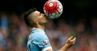 Sergio Aguero: Celebrates his hat-trick against Newcastle earlier this season