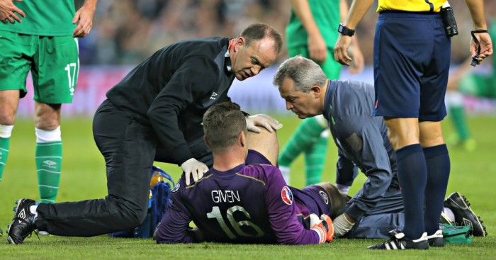 Shay Given: Stoke goalkeeper injured in Ireland's win over Germany