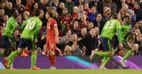 Southampton: Celebrate Sadio Mane's equaliser at Liverpool