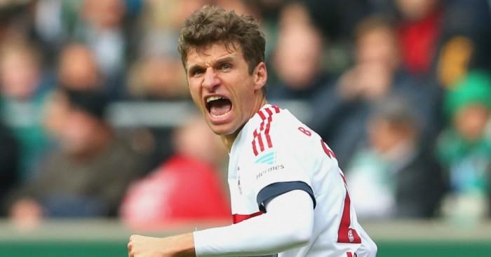 Thomas Muller - Forward Thomas Muller happy in Munich