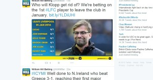 William Hill Betting WillHillBet Twitter