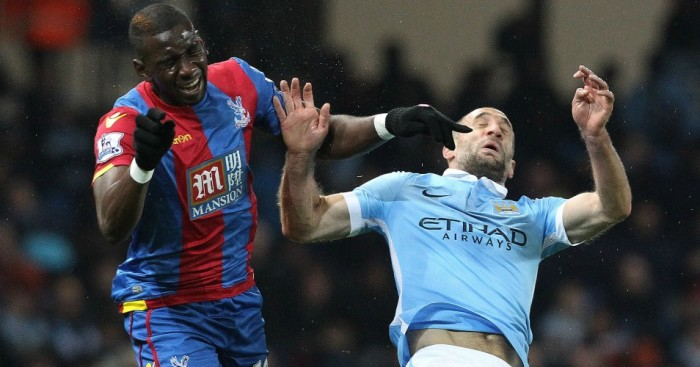 Pablo Zabaleta: Injured in Manchester City's win over Crystal Palace