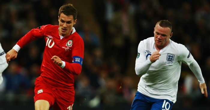 Aaron Ramsey & Wayne Rooney: Could lock horns at Euro 2016