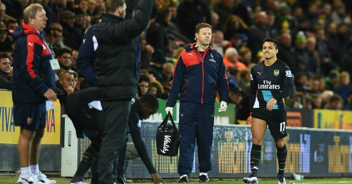 Alexis Sanchez: Injured in Arsenal's 1-1 draw at Norwich City