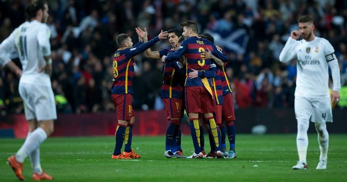 Gareth Bale and Sergio Ramos: Look on as Barcelona celebrate
