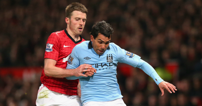 Carlos Tevez: Played for both Manchester City and Manchester United