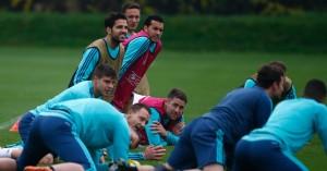 Cesc Fabregas Chelsea training