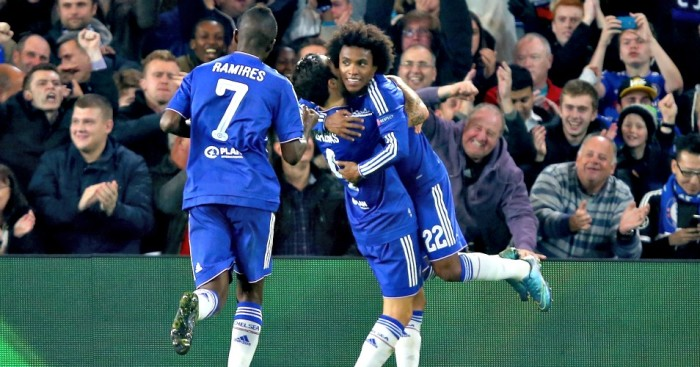 Chelsea: Celebrate going ahead against Dynamo Kiev