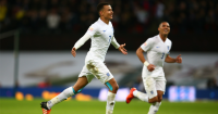 Dele Alli: Celebrates scoring for England against France