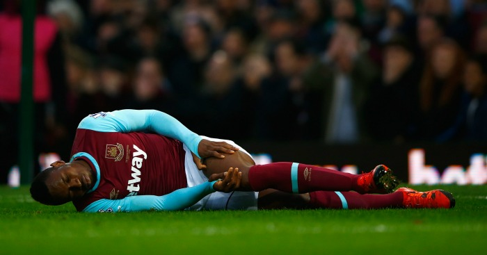 Diafra Sakho: Injured in West Ham's draw with West Brom