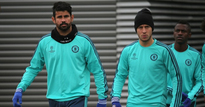 Diego Costa and Eden Hazard: Have struggled for form at Chelsea