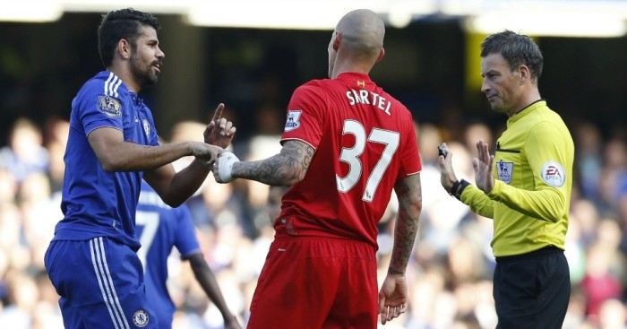 Diego Costa: Could be punished for Martin Skrtel clash