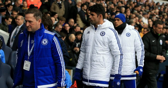 Diego Costa: Left on the bench in Chelsea's draw at Tottenham