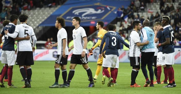 France v Germany: Both sets of players spent night inside Stade de France