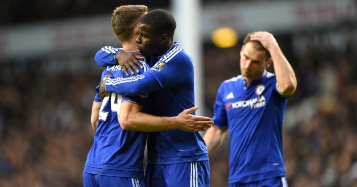 Gary Cahill and Kurt Zouma: Celebrate Chelsea's draw at Tottenham