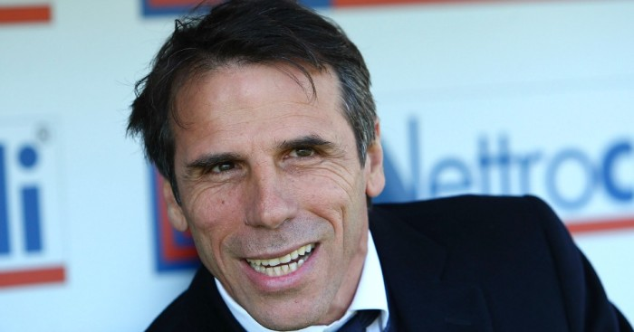 Gianfranco Zola: Has a target of managing Chelsea
