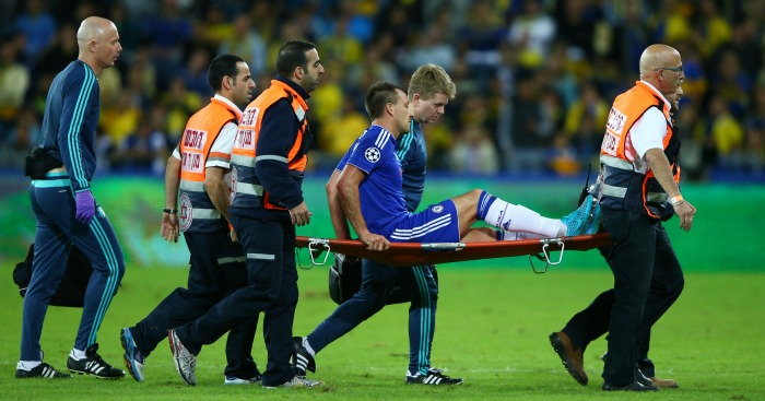 John Terry: Stretchered off in Chelsea's win at Maccabi Tel Aviv