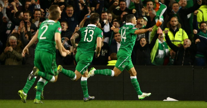 Jonathan Walters Republic of Ireland celebration