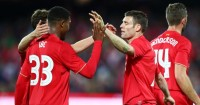 Jordon Ibe and James Milner: Back in training at Liverpool